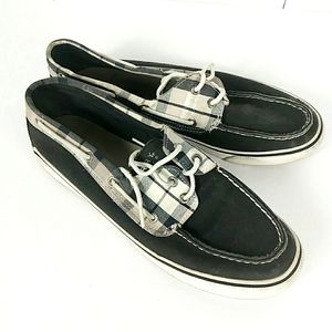 Sperry Top Sider Blue Canvas Boat Shoes 9M